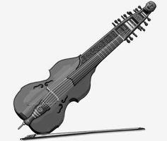 viola di bordone : bowed string instrument