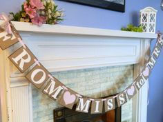 I like the wording.... not sure about the actual banner. FROM MISS to MRS Bridal Shower Banner/ by anyoccasionbanners, $29.00