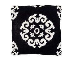 Cojín de algodón, negro y blanco II - 50x50 cm