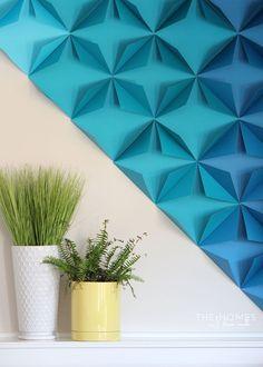 Paper wall decor renter friendly d awesome paper wall art newspaper wall de Toilet Paper Roll Art, Rolled Paper Art, Diy Wand, 3d Paper, Paper Crafts, Tissue Paper, Origami Wall Art, Paper Wall Decor, Beton Diy