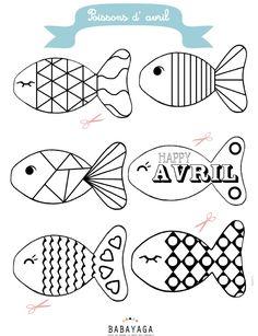 Sélection DIY spécial poissons d'avril: Printable, jeux, coloriage, et activités by Moma