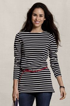 Lands End striped tee