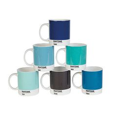 Pantone mugs Brighten your mornings with a colorful array of mugs in your favorite shades. How can your morning cup of joe not taste better in one of these?
