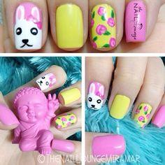 Bright easter spring nail art @The_Nail_Lounge_Miramar
