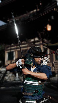 Fighting Poses, Ghost Of Tsushima, Samurai Art, Video Game Art, Katana, Martial Arts, Blood, Character Design, Anime