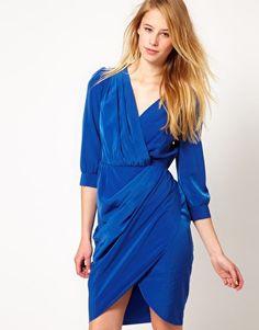 Vila Wrap Detail Dress