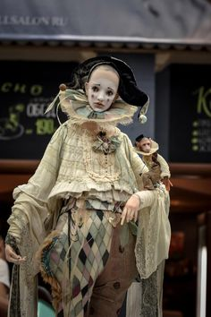 Art doll by Alisa Filippova. Arte Punch, Ricardo Iii, Broken Doll, Pierrot, Vintage Circus, Character Outfits, Ooak Dolls, Ball Jointed Dolls, Costume Design