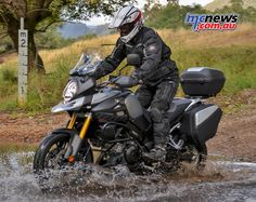 Suzuki V-Strom 1000 GT edition is equipped with Factory Suzuki 35L top box, side case set, centre stand, lower engine cowling, crash bars, large touring screen, LED indicators, hand guards, decal set and an attractive tank protector.