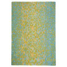 Leopard Rug in Aqua ( Pattern, Rug Sample) | Handmade Area Rugs from Company C