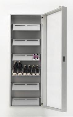 Wall-mounted shoe cabinet with mirror door & Tica Copenhagen Shoe Rack Grey £180 | New In | Pinterest | Grey ...