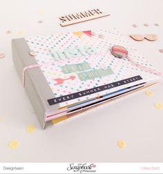 Inspirationsgalerie Minialbum Werkstatt - Scrapbook Werkstatt - Sommerliches Mini mit Buchbinderleim
