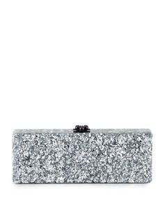 Flavia Confetti Acrylic Clutch Bag, Silver by Edie Parker at Neiman Marcus.