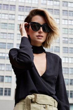 Amazing Ways to Wear Statement Sunglasses - black cat-eye sunglasses