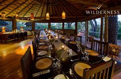 Xigera Camp - Xigera offers fine dinning at different locations every night - with Monday night being traditional night in the boma. #Safari #Africa #Botswana #WildernessSafaris