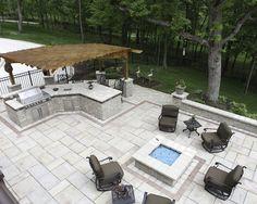 Pergola Bbq Island Patio Kitchen Design Backyard Ideas Outdoor