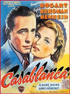 Vintage Movie Poster--Bogie--And Ingrid Berman