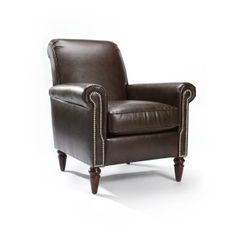 Perfect in any room in your home, the Homeware Dalton Leather Club Chair - Cocoa is luxurious, elegant, and sophisticated. The perfect chair.