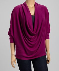 Another great find on #zulily! Magenta Dolman Drape Top - Plus by Poliana Plus #zulilyfinds