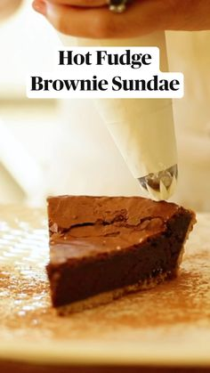 Frozen Desserts, Easy Desserts, Dessert Recipes, Brownie Sundae, Delicious Deserts, Fudgy Brownies, Tasty Kitchen, Hot Fudge, Special Recipes