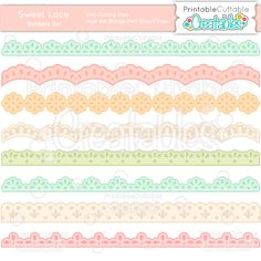 Sweet Lace Borders SVG Cutting File - Includes Limited Commercial Use License! SVG File, SVG, Cricut Explore, Cricut, Silhouette, Silhouette Cameo, Silhouette Portrait, SVG cuts, Eclips, Cutting Files, Make the Cut, Sure Cuts a Lot, SCaL, and other electronic craft cutting machines for scrapbooking, card making, paper crafting, Print & Cut, and more!