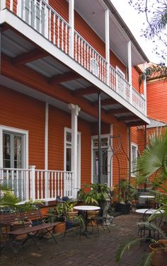 North Rampart Street - French Quarter  This classic two-story Victorian home with attached Servant Quarters wing was originally constructed in 1905. We completed a full renovation with updated finishes and fixtures in 2006. The house currently serves as a Bed-and-Breakfast with 7 guest rooms, a formal parlor, kitchen, dining area and landscaped courtyard.