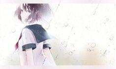 Anime Original  Original (Anime) Girl Short Hair Black Hair Black Eyes School Uniform Water Drop Rain Tears Sad Wallpaper