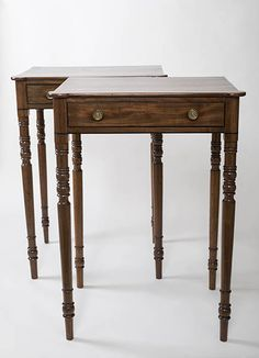 A Pair of Regency Mahogany Side Tables with Ebony Stringing, circa Side Tables, Regency, Antique Furniture, Glass Vase, Pairs, Antiques, Gallery, Christmas, Home Decor