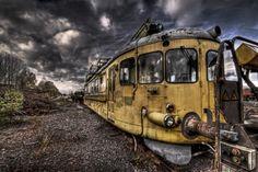 Abandoned railway workers train, by kvisten