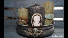 Baroque Candles On Glass Base - Διακόσμηση Κεριών σε Γυάλινη Βάση - Diy ...