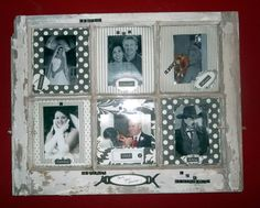 Craft Ideas With Old Windows | Collage Picture Frame from an old window. | Craft Ideas