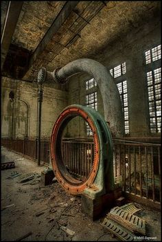 Doors & Architectural Pieces 30 Fascinating Abandoned Buildings(Oh to have these pieces of metal, could really make something interesting) Abandoned Buildings, Abandoned Property, Abandoned Mansions, Old Buildings, Abandoned Places, Abandoned Castles, Magic Places, Abandoned Factory, Haunted Places