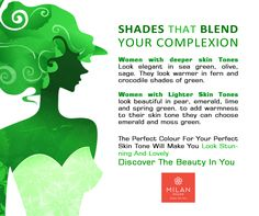 The  Find out the the for your skin tone and discover the  in you! Milan Design, Spring Green, Skin Tone, Your Skin, Tips, Outfits, Beauty, Beautiful, Outfit