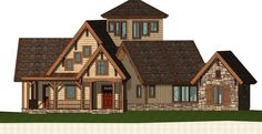 Hill Top Tower Front Elevation -- Natural Element Homes