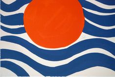calm in trees — alexander calder, circles and waves, 1970