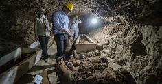 Egyptian archaeologists uncover necropolis with 17 mummies #Science #iNewsPhoto