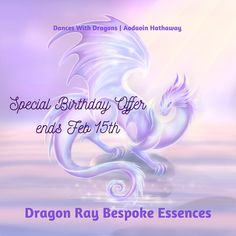 My special offer on Dragon Ray Bespoke Essences is still open! 20% discount on a special, uniquely your own, essence, until Feb 15. You can get help with a specific intention, or leave it up to your Dragon to bring through your optimal essence! Enter BIRTHDAY2020 at checkout. Link in my bio! NOTE: If you are purchasing 2+ of the Dragon Essentials workshops AND a Dragon Ray Bespoke Essence using the 20% discount, you need TWO SEPARATE CHECKOUTS.   #vibrationalessences #energyhealing…