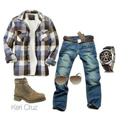 Outfit grid - Checks, jeans & boots
