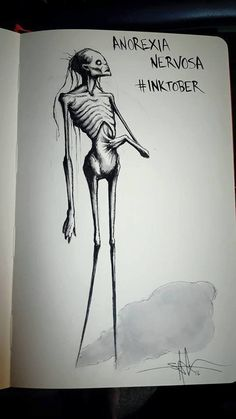 Anorexia Nervosa http://greatist.com/live/striking-illustrations-represent-different-types-of-mental-illness