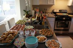 our housewarming party ; i cooked everything !