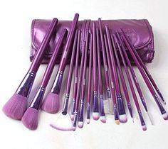 Megaga 18 Pcs Pro Makeup Brush Set Cosmetic Brush Kit Beauty Tool Accessories * Click image to review more details.
