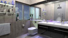 Fashionable Bathroom Bathtub Ideas With White Closet Big Miroor White lamp Wooden Cabinet Ceramic Wall