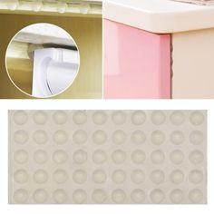 MagiDeal 10pcs Wardrobe Cabinet Door Damper Heavy Duty Door Soft Close Buffer Cushion Gray