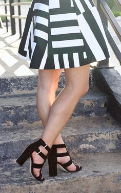 How to style a summer dress in the fall.