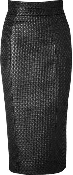 L'Wren Scott LWren Scott High Waisted Pencil Skirt - interest through texture.