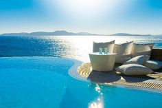 Relaxing next to infinity private pool - Mykonos Grand Hotel & Resort