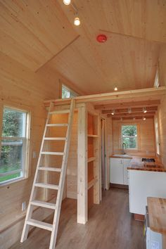 A 160 square feet tiny house on wheels in Delta, British Columbia, Canada.