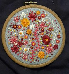 Flower embroidery hoop by Greentree Crafts.
