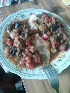 Tick. Steamed fish and ratatouille done :)