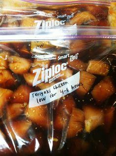 Teriyaki chicken crockpot frezzer mix easy and simple. | making our marx: 10 freezer to crockpot meals