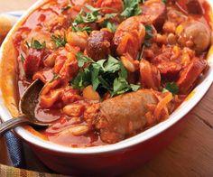 Maltese sausage stew